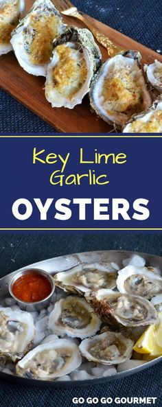 These Key Lime Garlic Oysters are one of the best oyster recipes! Baked (or even… Sponsored Sponsored These Key Lime Garlic Oysters are one of the best oyster recipes! Baked (or even grilled!) oysters are so much easier to shuck! Smoked Oysters, Grilled Oysters, Best Oysters, Appetizers For A Crowd, Seafood Appetizers, Appetizer Recipes, Seafood Menu, Seafood Dishes, Shellfish Recipes