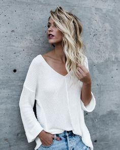 Aniston Cotton Knit Sweater