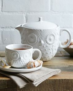 Cute Owl Tea Set.