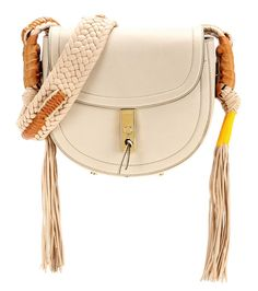 Ghianda Bullrope Small Saddle leather shoulder bag