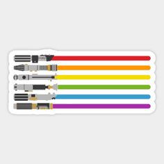 Shop lightsaber rainbow star wars stickers designed by halfabubble as well as other star wars merchandise at TeePublic. Stickers Cool, Star Wars Stickers, Tumblr Stickers, Phone Stickers, Printable Stickers, Planner Stickers, Sticker Shop, Sticker Design, Aesthetic Stickers