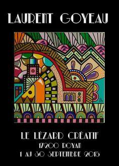 L'Artiste Laurent GOYEAU apporte mille et une couleurs à la vitrine du Lézard Créatif de Royan durant tout le mois de septembre 2015