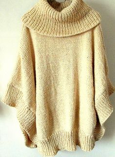 Poncho with a marvelous cowl neck.