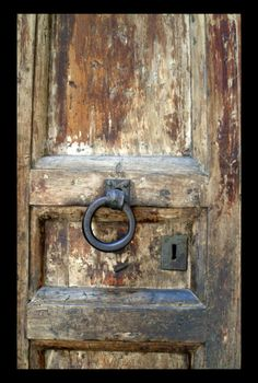 Old door....I would be looking for the keys though! Keys facinate me- they have a story