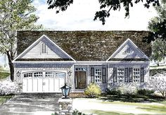 House Plan 80309 | Country Traditional Plan with 1771 Sq. Ft., 2 Bedrooms, 2 Bathrooms, 2 Car Garage