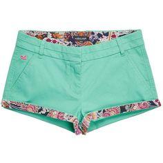 Southern Marsh Brighton Paisley Short ($50) ❤ liked on Polyvore featuring shorts, paisley shorts, long shorts and short shorts