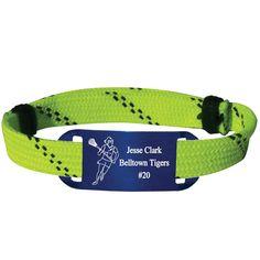 Personalized Lacrosse Shooting String Bracelet Girl Player Adjustable Shooter Bracelet - Volt