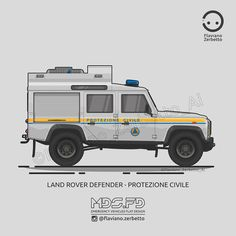 KombiT1: Land Rover Defender - Protezione Civile Land Rover Defender, Fire Crafts, Old Police Cars, 4x4 Off Road, Truck Art, Army Vehicles, Fj Cruiser, Emergency Vehicles, Land Rovers