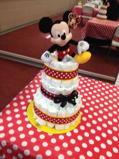 Mickey Mouse Diaper Cake by K Shack