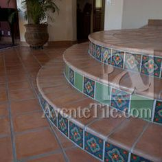 Staircase using #Rustic #Cement #Tile #Pavers.