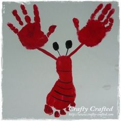 lobster foot/hand print - cute