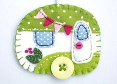 Felt applique caravan