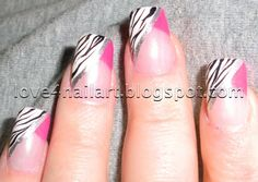 hot pink nail designs | Another HOT pink zebra nail design!