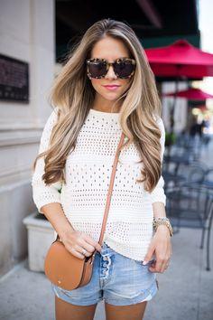 Knit Sweater & Boyfriend Shorts via The Teacher Diva