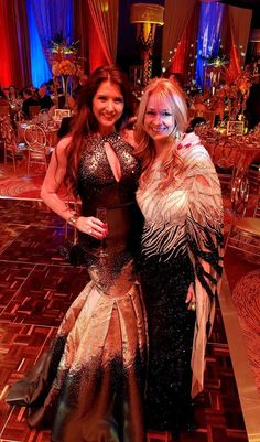 Kristene & Lisa looking fabulous in Zola Keller gowns! #blacktieball @WinterfestInc @HardRockHolly #fashion #holidays