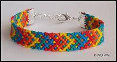 Bracelet brésilien multicolore motif Arlequin avec fermoir : http://filadelie.alittlemarket.com