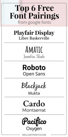56 Best Google Font Pairings Images In 2019 Letter Fonts