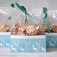 Here is my Winter Woodland treat box pattern I designed to match my Winter Woodland themed Christmas, I placed spot bags inside them and filled the bags with sweet treats and gave them as gifts. Shabby Chic Christmas, Woodland Christmas, Christmas Candy, Christmas Decorations, Christmas Ornaments, Holiday Decor, Winter Holidays, Christmas Holidays, Winter Snow