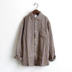 maillot マイヨ nel stripe regular shirts (ネルストライプレギュラーシャツ) MAS-15102