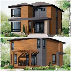 W3713-V1 - Affordable Contemporary Modern home plan with family& ...