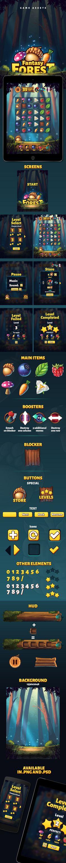 Fantasy Forest Game Assets on Behance