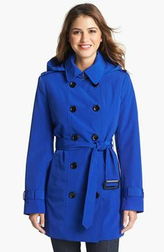 Calvin Klein Double Breasted Trench Coat (Nordstrom Exclusive) available at #Nordstrom