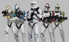 The different color clone troopers almost reminds me of Mighty Morphin Power Rangers. :P  Yup...Awesome!!