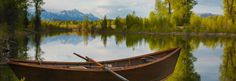 AJ DeRosa's Wooden Boat Float Tours offer a unique look at the Snake River in Jackson Hole, Wyoming. Enjoy the Teton views from the comfort of Wooden Dories the relax after your trip at the Tipi Camp, a magical retreat in the woods.