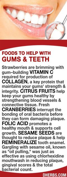 Strawberries are brimming with gum–building vitamin C that maintains your gums' strength & integrity. Fresh cranberries interrupt the bonding of oral bacteria. Folic acid promotes a healthy mouth Teeth Health, Healthy Teeth, Oral Health, Dental Health, Dental Care, Health And Nutrition, Health And Wellness, Health Tips, Gum Health