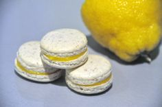 Makron-med-sitron Cake Bars, Macaroons, Crackers, Camembert Cheese, Biscuits, Frisk, Lemon Curd, Sweets, Sugar
