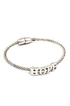 Silver Hope Bracelet