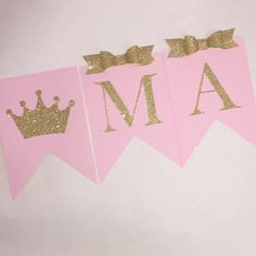 Princess birthday banner crown name by FancyFunctionDesigns Princess Birthday, Chloe, Minnie Mouse, Banner, Baby Shower, Crown, Etsy, Disney Princess, Unique Jewelry