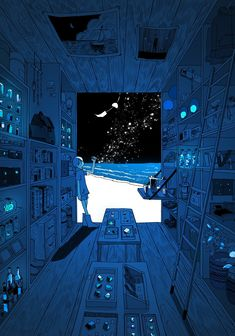 """""""Somewhere in the Night of Space"""" by Sakatsuki fish. Anime Scenery Wallpaper, Pastel Wallpaper, Animes Wallpapers, Cute Wallpapers, Aesthetic Iphone Wallpaper, Aesthetic Wallpapers, Pretty Art, Cute Art, Aesthetic Art"""
