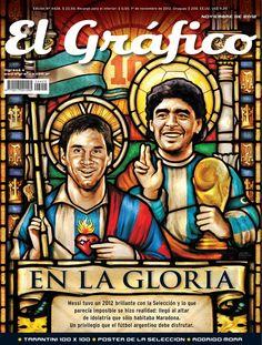 Para ir reservando: El Gráfico de noviembre, de colección con Messi y Maradona-Revista El Gráfico