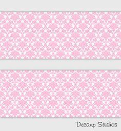 Pink Paris Poodle Damask Wallpaper Border Wall Art Decal Baby Girl Nursery Room