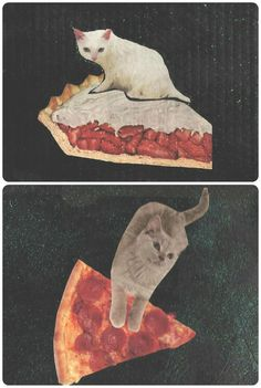 Kitty Pie/Pizza Cat ART PRINTS by TheEscapistArtist on Etsy, $6.00