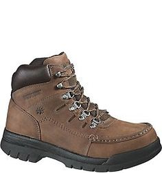 W04349 Wolverine Men's Potomac English Safety Boots - Brown