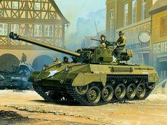 1945 Alemania M18 Hellcat - box art Academy