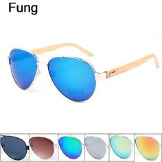b94eb4a7e342 Aliexpress.com : Buy Summer Style PILOT Sunglasses Men Bamboo Legs Mirror  Lens Sun Glasses with Case lentes de sol Fast Free Shipping from Reliable  lens ...