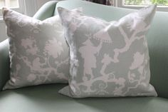Pair of Schumacher Shantung Silhouette Cushion Covers in Mineral. $100.00, via Etsy.