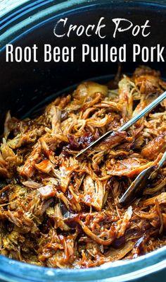 Crock Pot Root Beer Pulled Pork- only 4 ingredients! #slowcooker #pulledpork via @FMSCLiving