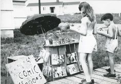 A young entrepreneur selling comic books during the days of the Manhattan Project, in Oak Ridge, Tennesee. (James E. Luke Cage, Girl Reading, Children Reading, Wolverine, Adriana Melo, Sell Comic Books, Deadpool, People Reading, Shopping