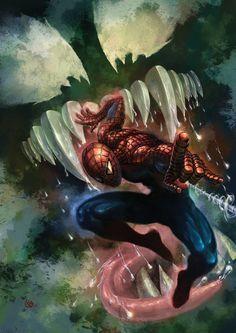 #Spiderman #Fan #Art. (Spiderman and Venom) By Seanz. (THE * 5 * STÅR * ÅWARD * OF: * AW YEAH, IT'S MAJOR ÅWESOMENESS!!!™) ÅÅÅ+