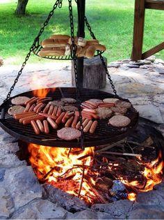 barbecue exterieur grille suspendu