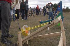 Kalkaska Middle School Students Test Machines In Pumpkin Chuckin Contest