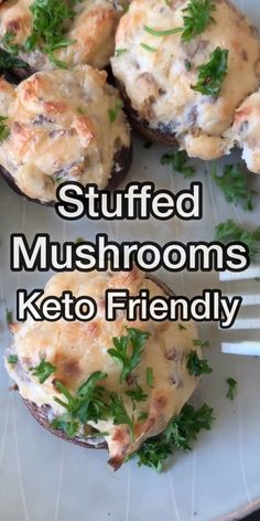 Stuffed Mushrooms with cream cheese are an easy appetizer to whip up. This is the easiest stuffed mushroom recipe sure to produce the most mouthwatering and delicious mushroom caps you will eat this… Keto Mushrooms, Cheese Stuffed Mushrooms, Crab Stuffed Mushroom Caps, Stuffed Mushroom Recipes, Stuff Mushrooms, Healthy Stuffed Mushrooms, Crab Recipes, Salmon Recipes, Best Mushroom Recipe