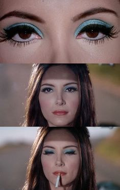 Retro Makeup, Vintage Makeup, Cute Makeup, Makeup Looks, 70s Makeup Look, 1960s Makeup, Rockabilly Makeup, Kids Makeup, Crazy Makeup