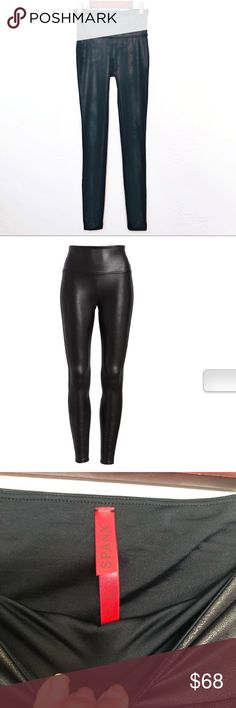 "44c1db86bd26cb Spanx leather look black legging size small These are ""the"" famous leather  look slimming"