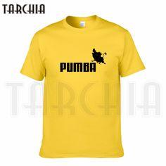 02a20724b98ab4 TARCHIA 2018 new brand PUMBA Lion King t shirt cotton tops tees men short  sleeve boy casual homme tshirt t shirt plus fashion-in T-Shirts from Men's  ...
