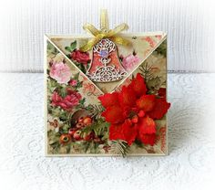 Christmas card handmade  envelope card  by CarmenHandCrafts